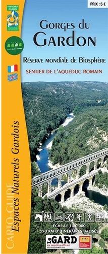 Gorges du Gardon, sentier de l'Aqueduc romain. 1/30 000
