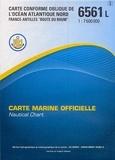 """SHOM - L'Océan Atlantique Nord France-Antilles """"Route du Rhum"""" - 1/7 600 000."""
