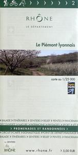 Département du Rhône - Le Piémont lyonnais - 1/25 000.