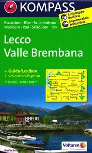 Kompass - Lecco Valle Brembana - 1/50 000, avec un guide.