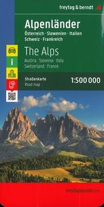 Freytag & Berndt - Les Alpes Autriche-Slovénie-Italie-Suisse-France - 1/500 000.