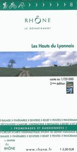 Les Sentiers du Rhône - Les Hauts du Lyonnais - 1/25 000.