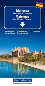 Kümmerly + Frey - Majorque, Ibiza, Minorque, Formentera - 1/150 000.