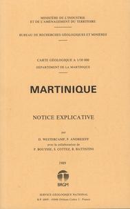 Denis Westercamp et Patrick Andreieff - Martinique - Carte géologique à 1/50 000.
