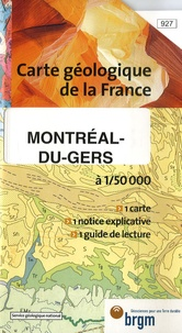 Service Géologique National - Montréal-du-Gers - 1/50000.