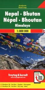 Freytag & Berndt - Népal - Bhoutan - Himalaya - 1/800 000.