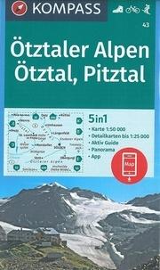 Kompass - Otztaler Alpen, Otztal, Pitztal - 1/50 000.