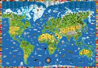 Kruger - Poster monde illustré.