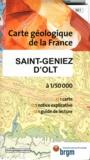 BRGM - Saint-Geniez d'Olt - 1/50 000.