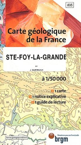 BRGM - Sainte-Foy-la-Grande - 1/50 000.