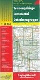Freytag & Berndt - Tennengebirge, Lammertal, Osterhorngruppe - 1/50 000.