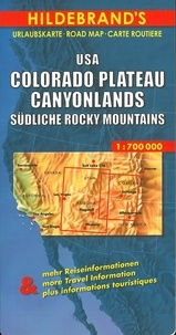 Collectif - USA Colorado Plateau, Canyonlands, Southern Rocky Mountains. - 1/700 000.