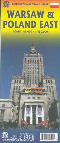 Warsaw & Poland East. 1:9 000 / 1:650 000