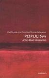Cas Mudde et Cristobal Rovira Kaltwasser - Populism - A Very Short Introduction.