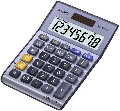 CASIO - Calculatrice de bureau MS-88TER II