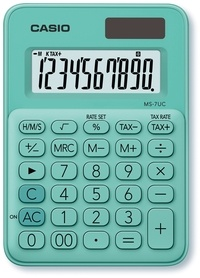CASIO - Calculatrice mini bureau 8 chiffres  M7 UC Verte