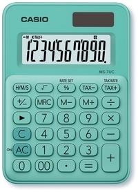 CASIO FRANCE - Calculatrice mini bureau 8 chiffres  M7 UC Verte