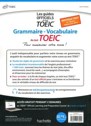 Grammaire Vocabulaire du test TOEIC. Pour maximiser votre score !
