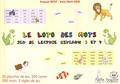 François Petit et Irene Mark Gilo - Le loto des mots - Jeu de lecture niveaux 3 et 4.