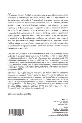Musées en Europe. Tradition, mutation et enjeux 2e édition revue et augmentée
