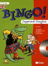 Catherine Barnoud et Jeanette Loric - Bingo! J'apprends l'anglais niveau 2. 1 CD audio