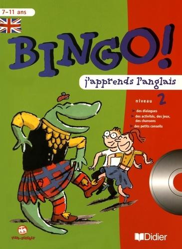 Catherine Barnoud et Jeanette Loric - Bingo! J'apprends l'anglais niveau 2. 1 CD audio