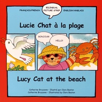 Catherine Bruzzone et Clare Beaton - Lucie Chat a la Plage - Lucy Cat at the Beach.