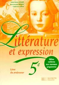Galabria.be LITTERATURE ET EXPRESSION 5EME. Livre du professeur, Edition 1997 Image