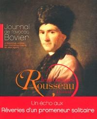 Catherine Coeuré et Jean Sgard - Journal de l'avocat Bovier - Jean-Jacques Rousseau à Grenoble.