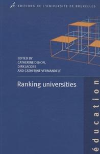 Catherine Dehon et Catherine Vermandele - Ranking universities.