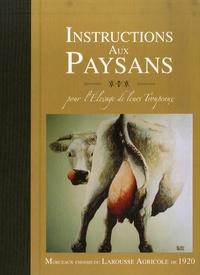 Deedr.fr Instrcutions aux paysans pour l'élevage de leurs troupeaux - Morceaux choisis du Larousse Agricole de 1920 Image