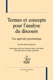 Catherine Détrie et Paul Siblot - Termes et concepts pour l'analyse du discours - Une approche praxématique.