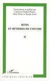 Catherine Dutheil Pessin et Alain Pessin - Rites et rythmes de l'oeuvre 2.