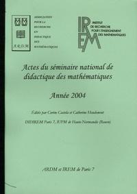 Catherine Houdement - Actes du séminaire national de didactique des mathématiques - Année 2004.