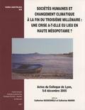 Catherine Marro - Sociétés humaines et changement climatique à la fin du troisième millénaire : une crise a-t-elle eu lieu en Haute Mésopotamie ? - Actes du colloque de Lyon, 5-8 décembre 2005.