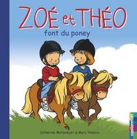 Catherine Metzmeyer et Marc Vanenis - Zoé et Théo font du poney.