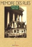 Catherine Planel - Paris 8e arrondissement - 1900-1940.