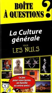 La Culture Générale Pour Les Nuls Boite à Questions Pdf Livre Pdf