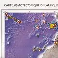 Mustapha Meghraoui - Carte sismotectonique de l'Afrique - 1/10 000 000.