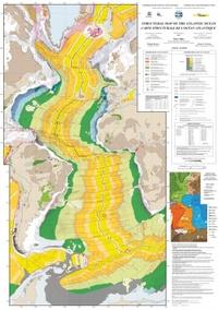 Peter Miles - Carte structurale de l'océan Atlantique - 1/20 000 000.