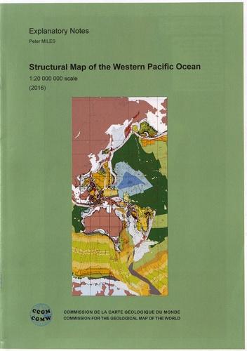 Peter Miles - Carte structurale de l'océan Pacifique ouest + notice explicative - 1/20 000 000.