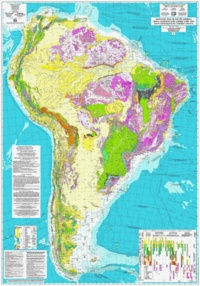 Carlos Schobbenhaus et Alirio Bellizzia - Geologic Map of South America - 1/5 500 000.