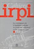 Nathalie Blanc - Cahiers IRPI N° 2, Année 2002 : Les conséquences de la liquidation judiciaire du producteur audiovisuel sur les contrats en cours.