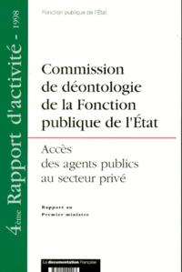 4EME RAPPORT DACTIVITE 1998 : ACCES DES AGENTS PUBLICS AU SECTEUR PRIVE.pdf