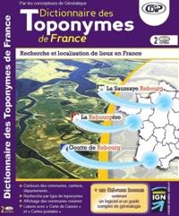 CDIP - Dictionnaire des toponymes de France - CD-ROM.