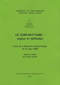 Cécile Auzolle - Le comparatisme : enjeux et méthodes - Actes de la Rencontre interartistique du 21 mars 2005.