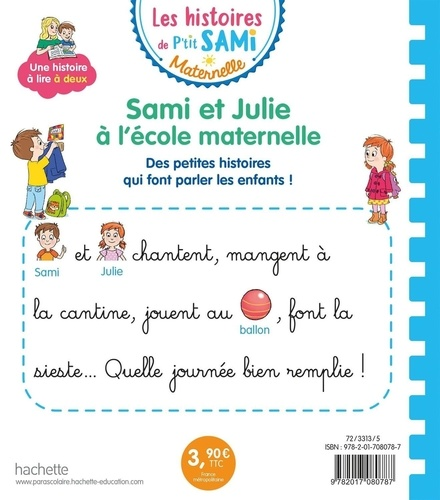 Sami et Julie maternelle  Sami et Julie à l'école maternelle