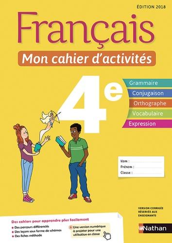 Francais 4e Mon Cahier D Activites Grand Format