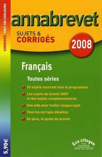 Francais Brevet Toutes Series Sujets Et Corriges