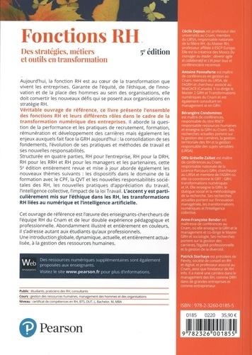 Fonctions RH. Des stratégies, métiers et outils en transformation 5e édition
